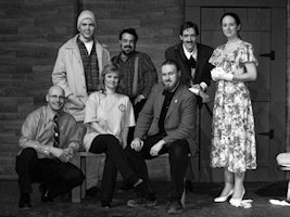 "Cast and Staff of ""An Hour of Comedy, featuring Brothers in Arms"" at the Ellice Theatre"