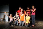 "The Teen Acting students strike a pose. - ""YOUTH SHOWCASE"""