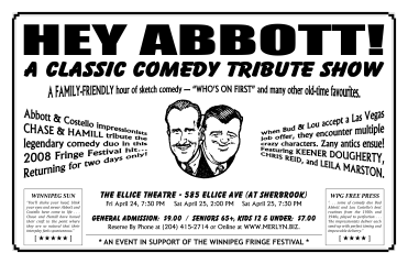 HEY ABBOTT! - A Classic Comedy Tribute Show (2009) - Poster Design
