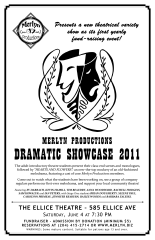 Poster Design - Merlyn Productions Dramatic Showcase 2011 (2011)