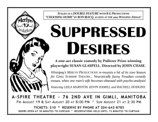 SUPPRESSED DESIRES (Gimli Summer Theatre) (2011) - Handbill Design