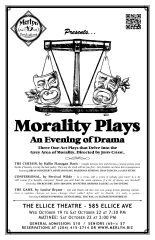 MORALITY PLAYS: An Evening of Drama (2011) - Poster Design