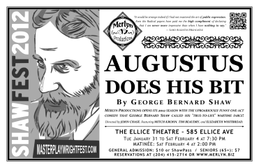 Augustus Does His Bit (2012) - Poster Design