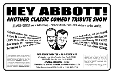 HEY ABBOTT! - Another Classic Comedy Tribute Show (2012) - Poster Design