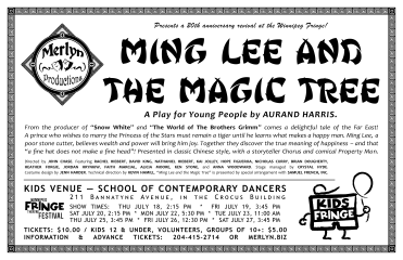 Ming Lee and The Magic Tree (2013) - Poster Design